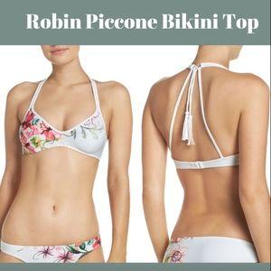 NEW Robin Piccone Floral Underwire Bikini top SZ L